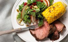 Beer-Soaked Beef Rotisserie Roast with Skillet Corn and Kale Salad - Yummy Lunch Club Sirloin Tip Roast, Sirloin Tips, Cross Rib Roast, Bbq Rotisserie, Skillet Corn, Kale Salad Recipes, Round Roast, Grilled Beef, Beef Recipes