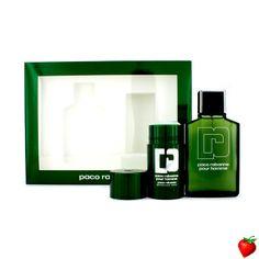 Paco Rabanne Pour Homme Coffret: Eau De Toilette Spray 100ml/3.3oz + Deodorant Stick 75ml/2.2oz 2pcs #PacoRabanne #Perfume #MensSets #MensGift #StrawberryNET