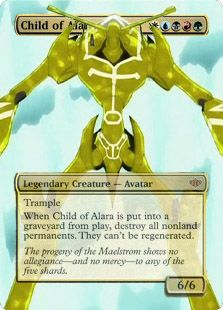 Magic the Gathering Proxy of the Spirit of Fire from Shaman King as Child of Alara