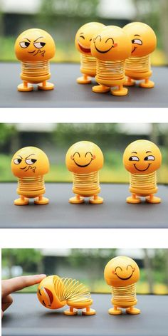 Fun Creative Car Ornaments Smiley Face Spring Doll.  Shaking Head Dolls. Emoji Spring Doll. Smiley Face Spring Toy. Activity Toys, Activities, Car Ornaments, Friendly Plastic, Learning Toys, Educational Toys, Cool Toys, Smiley, Shake