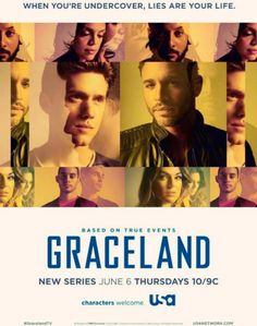 25. It's 6 June, 2013 and USA launches a new serie: Graceland. Jenni, sat on her Italian leather sofa, seems very interested and looks forward to the 1st show. While USA did make comedy development a priority three years ago, the network gradually has shifted its attention back to drama. USA was not able to replicate the success of other competitors in the comedy arena with positive results. Only with Sirens that developed a loyal audience in younger and upscale audience.
