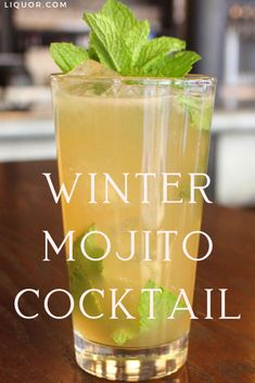 Enjoy a Mojito all year round with this seasonal version! The Winter Mojito adds a splash of a herbaceous vanilla bean liqueur for a wonderfully delicious twist on this rum classic! Refreshing Cocktails, Classic Cocktails, Fun Cocktails, Cocktail Drinks, Cocktail Recipes, Spring Cocktails, Drink Recipes, Low Alcohol Drinks, Mixed Drinks