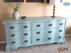 Curb-Find Bassett Dresser - after