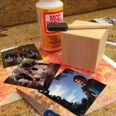 Wooden Photo Print Blocks DIY
