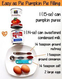 Easy as Pie Pumpkin Pie | SugaryWinzy