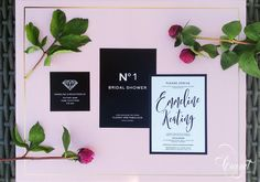 Wedding and Event Invitations, Personal Stationery, and Business Identity & Branding Boutique Design, A Boutique, Chanel Wedding, Personalized Stationery, Bridal Shower Invitations, Invitation Design, Wedding Events, Weddings, Coconut