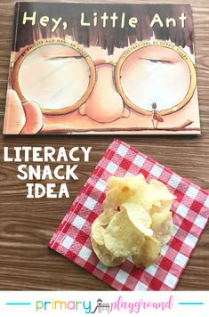 Literacy Snack Ideas Ants  + Free Printable Hey, Little Ant #literacysnack #booksnack #bookwithactivites #kindergarten #preschool #ants
