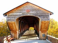 old covered bridges | Old Salem Covered Bridge near Winston-Salem, North ... | OLD SALEM, NC
