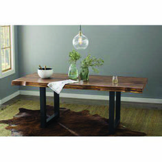 See the Linde Dining Table. Pine Dining Table, Solid Wood Dining Table, Dining Table In Kitchen, Extendable Dining Table, Living Room Kitchen, Dining Rooms, Simple Dining Table, Condo Kitchen, Wooden Dining Tables