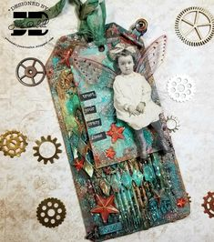 Tim Holtz Dies, Have Some Fun, Mixed Media, Play, Christmas Ornaments, Holiday Decor, Stamping, Card Ideas, Cards