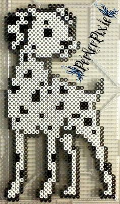 Dalmatian dog perler beads by PerlerPixie
