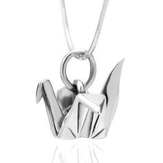 925 Sterling Silver Origami Bird Paper Crane Flapping Bird Pendant Necklace, 18 inches Chuvora http://www.amazon.com/dp/B008SBEV8U/ref=cm_sw_r_pi_dp_SMS.wb1V8TAWM
