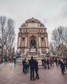 19th-Century Feature Fontaine Saint-Michel in the 6th | solosophie
