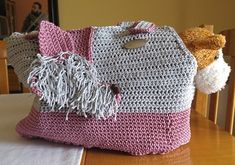 Puppy Carrier, Crochet Shoulder Bags, Crochet Tote, Tote Pattern, Lining Fabric, Beautiful Bags, Macrame, Crochet Patterns, Etsy Shop