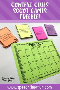 where to start with context clues in speech and language therapy - plus freebie game