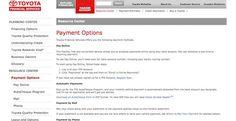 Toyota Bill Pay
