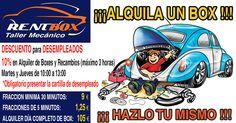 DESCUENTO para DESEMPLEADOS !!! 10% en ALQUILER DE BOXES y RECAMBIOS. VEN A RENTBOX!!!  COMPARTELO... www.rentbox-taller.com .