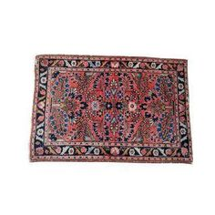 This small, vintage Persian Lilihan is of fine weave and a classic Sarouk design. Many years of enjoyment to come with this rug!