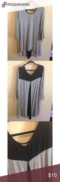 Lane Bryant High-low tunic Used condition but still lots of life in it. Material is balled but it's a sweater material. Nice to throw on with leggings. Size 26/28 Lane Bryant Tops Tunics
