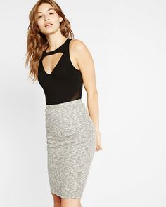 cut-out mesh inset tank
