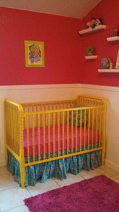 My daughter Lorelei's Yellow Jenny Lind Crib
