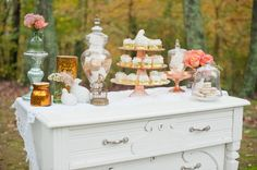 wedding table, sweets table, decoration, beauty, simple. vintage, repurosed