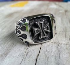 maltese cross iron cross signet steampunk gothic by youareoutthere