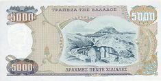 Όλα τα Ελληνικά Χαρτονομίσματα σε δραχμές που κυκλοφόρησαν στην Ιστορία. Vintage World Maps, Coins, Blog, Banknote, World, Money