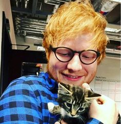 """""""When Ed Sheeran met Georgie, and our hearts broke into a squillion pieces. ❤️"""" - thefireputuk"""