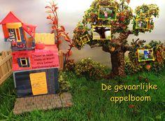 Digitaal verhaal voor kleuters over Hap en Hodde; De gevaarlijke appelboom. Met stukje bewegend beeld.