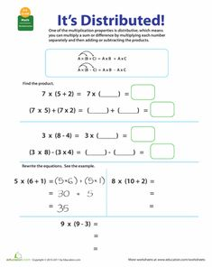 Printables Distributive Property Worksheets 6th Grade zero student and the ojays on pinterest worksheets properties of multiplication distributive