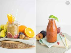Smoothie made with herbal tea