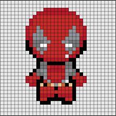 Patrón de Hama Beads Midi de DeadPool, el personaje más loco que te puedes encontrar en el universo Marvel.😱  Si quieres saber como se hace, ya sea en Hama Beads o Pixel Hobby, haz click en el enlace.