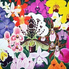 #Orchid #Orchiddschungle #painting #Gemälde #Blumen #Flowers #bunt #colour #Flowerpower