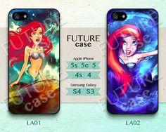 Disney Ariel iPhone 5 Case iPhone 5c Cover iPhone 5s Skin iPhone 4 Case iPhone 4s Cover phone skin cover skin