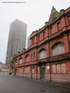 Abandoned Whitevale Street Public Baths and Washhouse, Bridgeton, Glasgow, Scotland. The building was closed in the 1980's and has remained empty ever since. The building is a category B listed building.