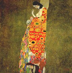 One of the paintings that got me all choked up when I went to the MOMA - I have a poster of it on my living room wall now. (Gestus: Maternity in Art: Gustav Klimt)