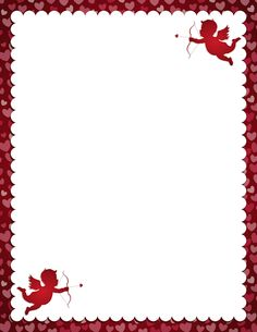 valentines day border for word