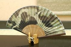 Authentic Japanese Hand Fan - Tree (Matsu)!!! $25.00  The Japanese hand fans are an important symbol in Japan . They were used by warriors as a form of weapon, actors and dancers for performances, and children as a toy. In Japan fans are given to others as present and serve as trays for holding gifts. You would also find them sometimes used in religious ceremonies and events.