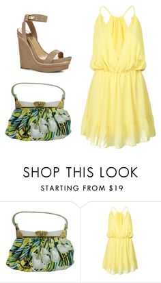 """""""Going Places"""" by sassyladies ❤ liked on Polyvore featuring Judith Leiber, WithChic and BCBGMAXAZRIA"""