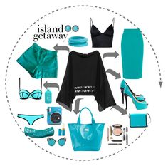 """""""Island Getaway"""" by marionmeyer on Polyvore featuring Mode, Chelsea Flower, American Apparel, Crocs, Seafolly, Michael Kors, Roland Mouret, T By Alexander Wang, ZENZii und Chico's"""