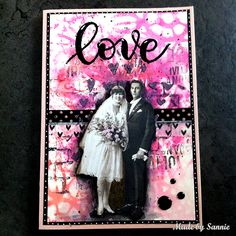 Made by Sannie: Love is in the Air card with video tutorial - #sssmchallenge - Showcasing carabelle products this week