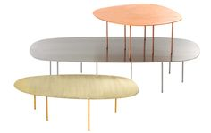 Asplund - ZOO tables in solid copper, brass or stainless steel
