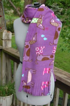 Dachshund Fleece Scarf