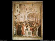 Altichiero da Zevio: 'De dood van de heilige Lucia' ~ ca. 1360 ~ Fresco ~ Oratorio di S. Giorgio, Padua
