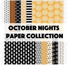 halloween. halloween collection.october nights paper collection. shop.serenabee.com