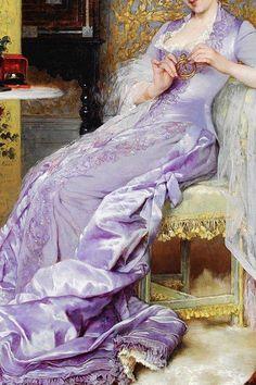 Frans Verhas (1827 -1897 ) The New Bracelet (detail)