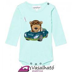 Autós maci fiú ruhára vasalós matrica, pólóra, bodyra, maci kisfiú kék autóban vasalható matrica papír #vasalhatómatrica #vasalhatómatricák #vasalható #matrica #gyerek #vasalósmatrica