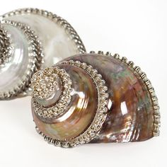 Swarovski covered shells! What could be better than pretty shells and Swarovski crystals?