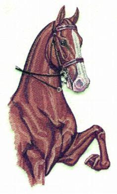Free Redwork Patterns to Print | 30 Redwork horse designs Machine Embroidery Designs